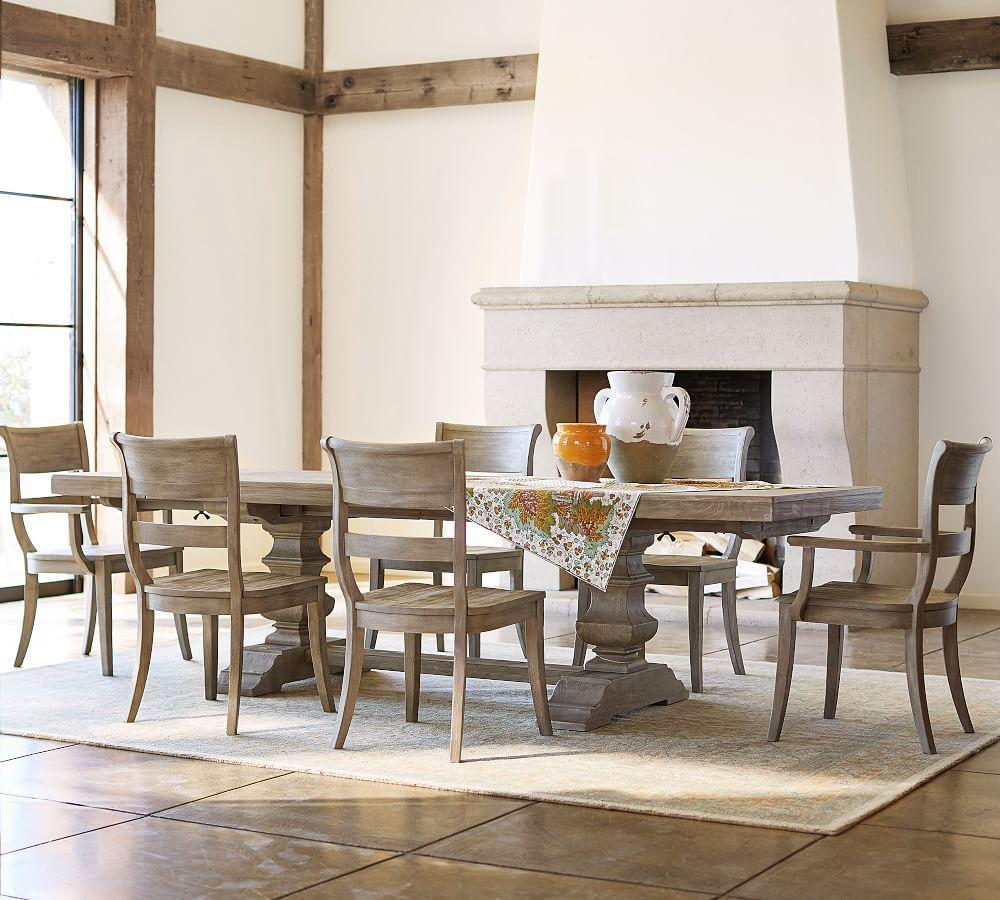 Banks Extending Dining Table, Grey Wash