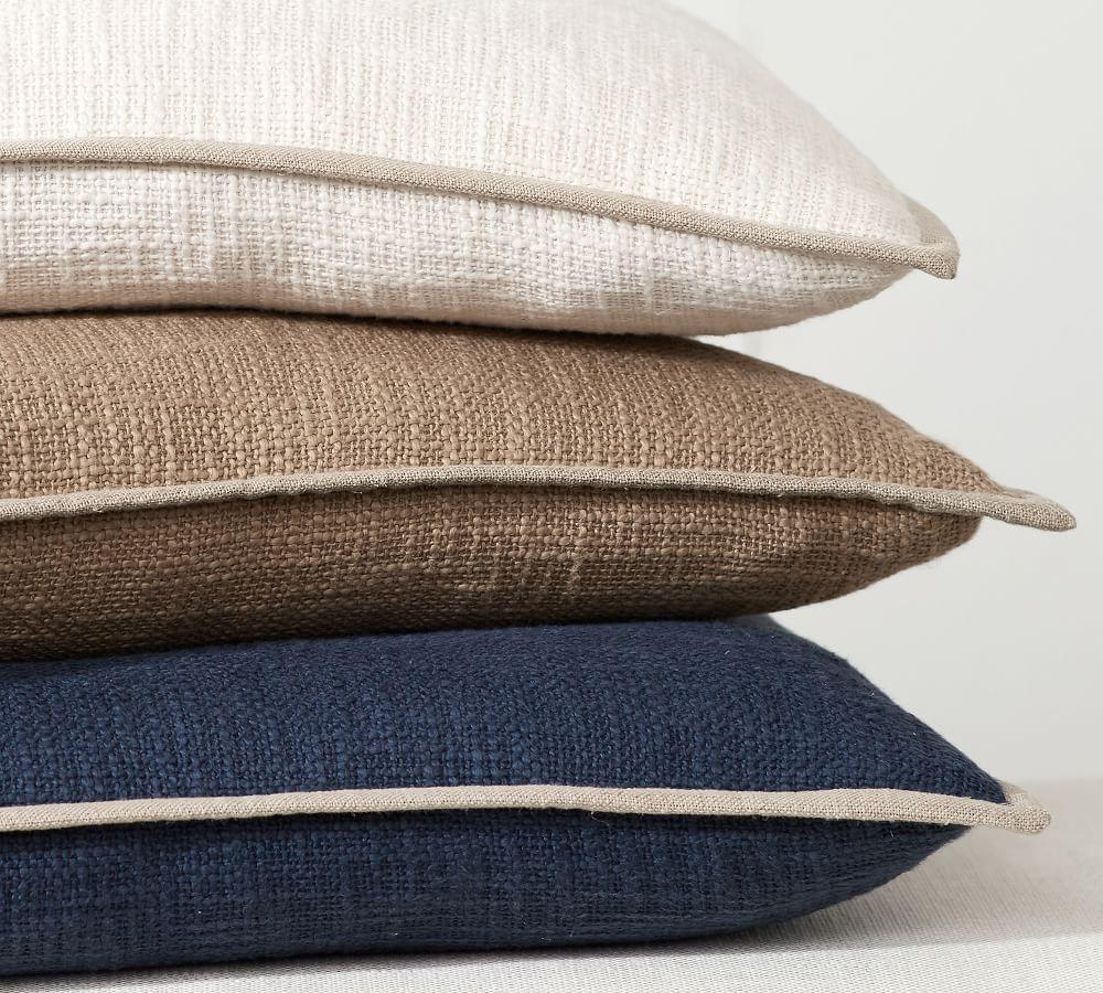 Cotton Basketweave Pillow Covers