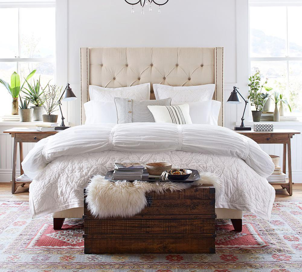 Harper Upholstered Tufted Tall Bed