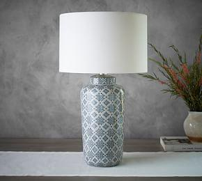 Jamie Young Langley Ceramic Cylinder Lamp