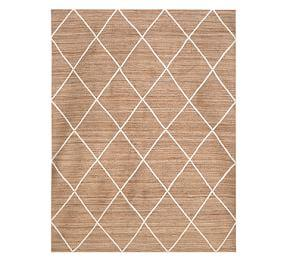Jute Lattice Rug - Flax/Ivory