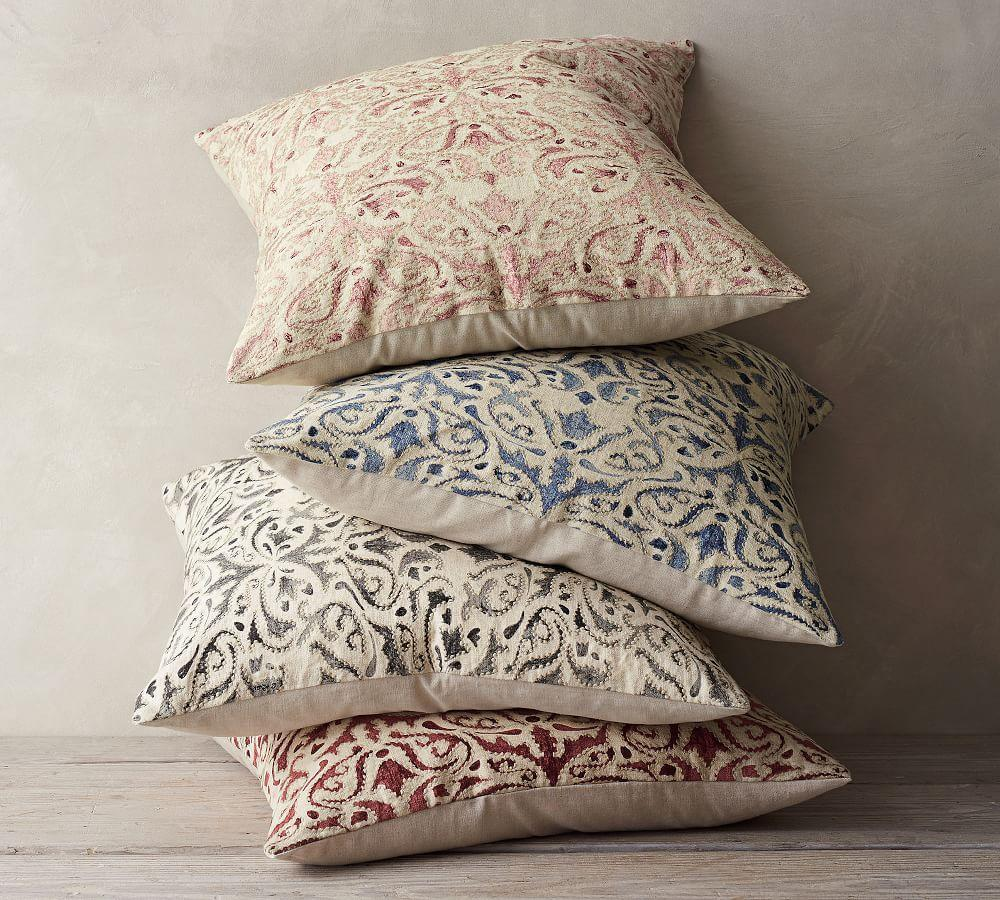 Reilley Embroidered Pillow Covers Pottery Barn Ca