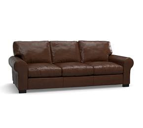 Turner Roll Arm Leather Sleeper Sofa