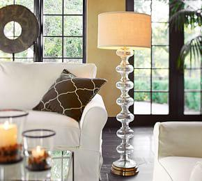 Jasmine Glass Floor Lamp