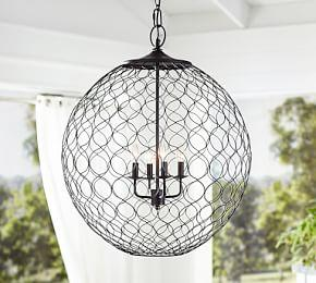 Net Globe Indoor/Outdoor Pendant