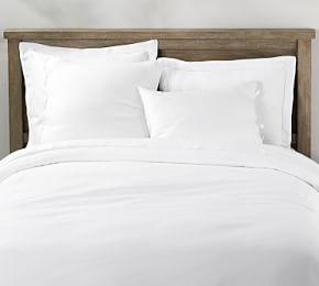 Belgian Flax Linen Duvet Cover & Shams with Ties - White