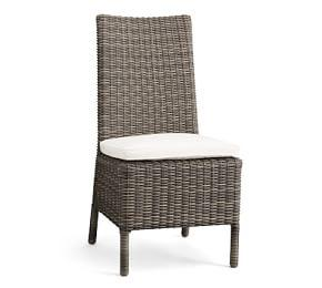 Torrey All-Weather Wicker Dining Chair, Charcoal Gray
