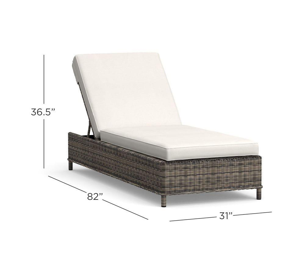 Torrey All-Weather Wicker Chaise, Charcoal Gray