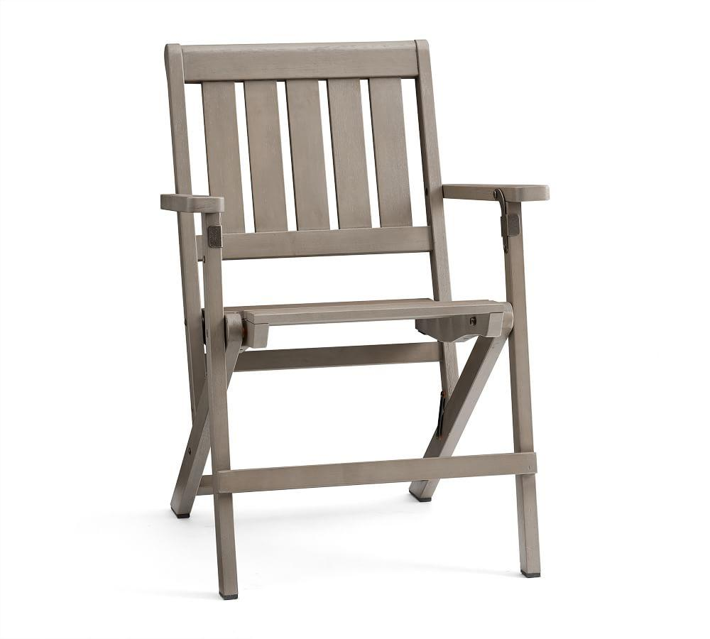 Chatham Folding Dining Chair, Gray