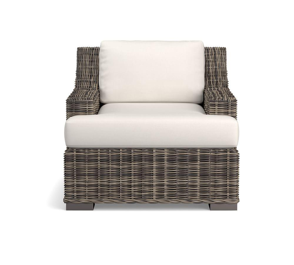 Huntington All-Weather Wicker Slope Arm Occasional Chair