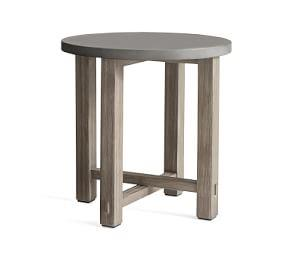 Abbott Side Table, Gray Wash