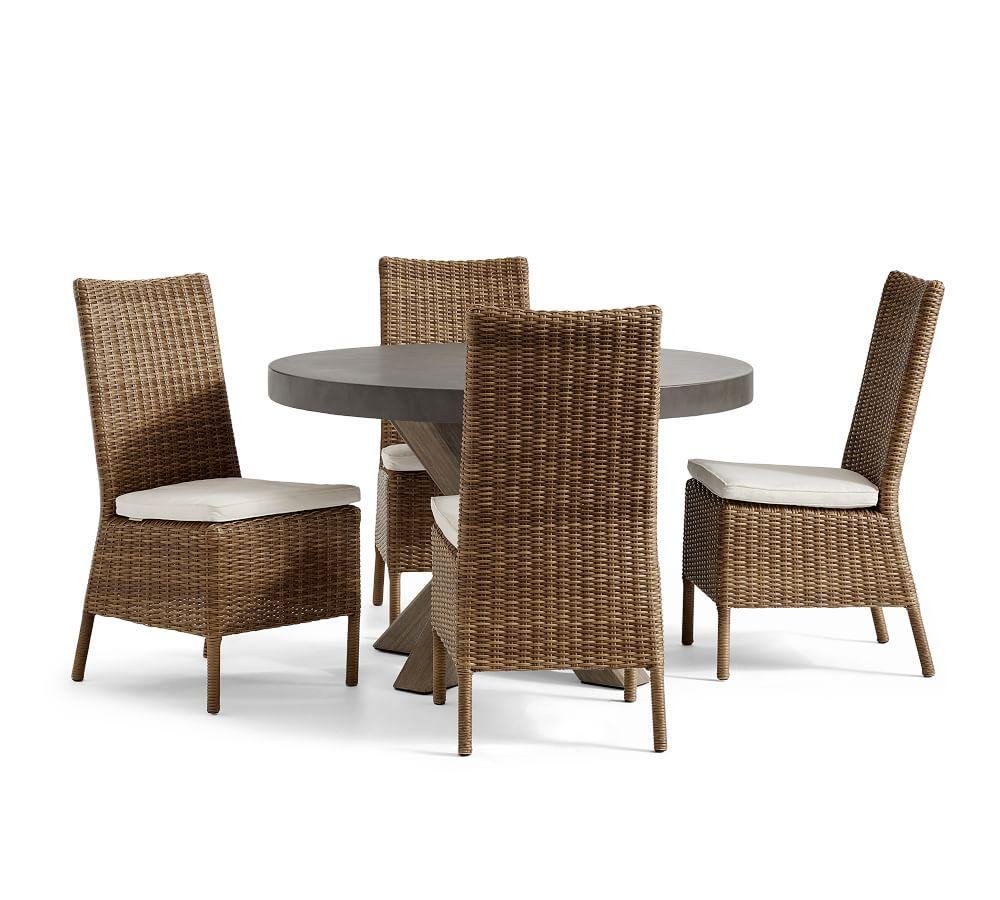 Abbott Gray Dining Table & Torrey Natural Chair Set