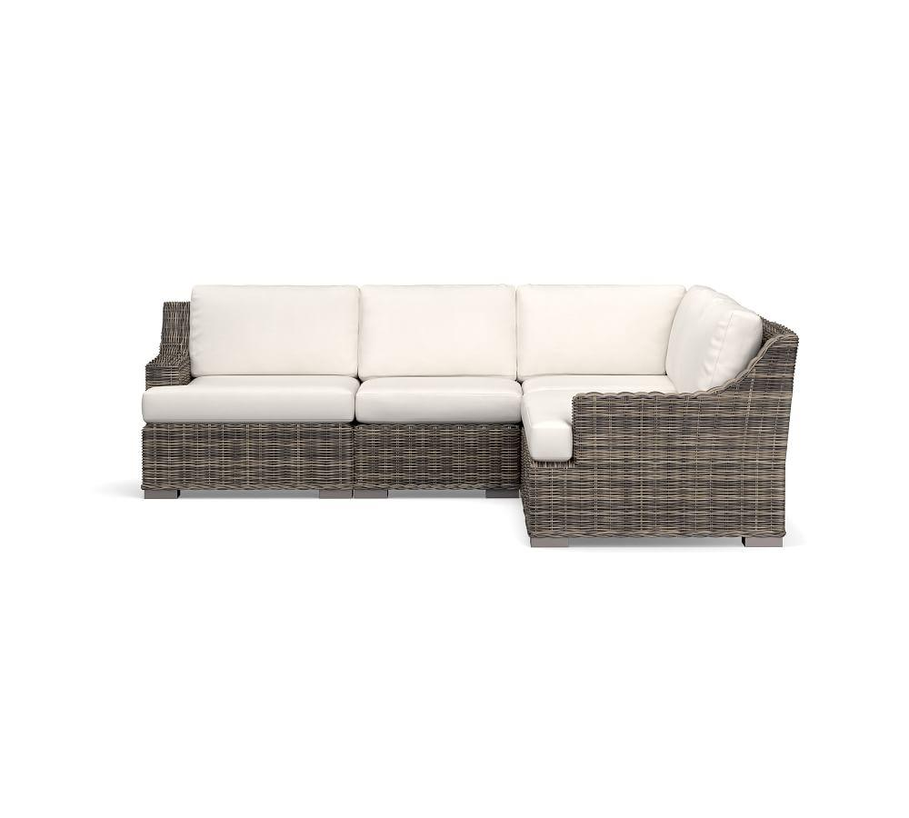Huntington All-Weather Wicker Slope Arm Sectional Set