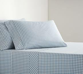 Gingham Check Organic Sheet Set