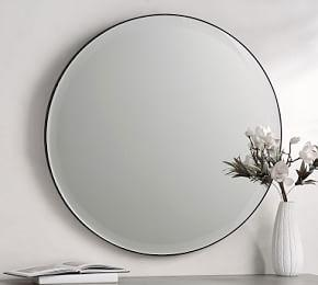 Madalyn Beveled Round Mirror