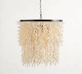 Caye Coconut Shell Chandelier