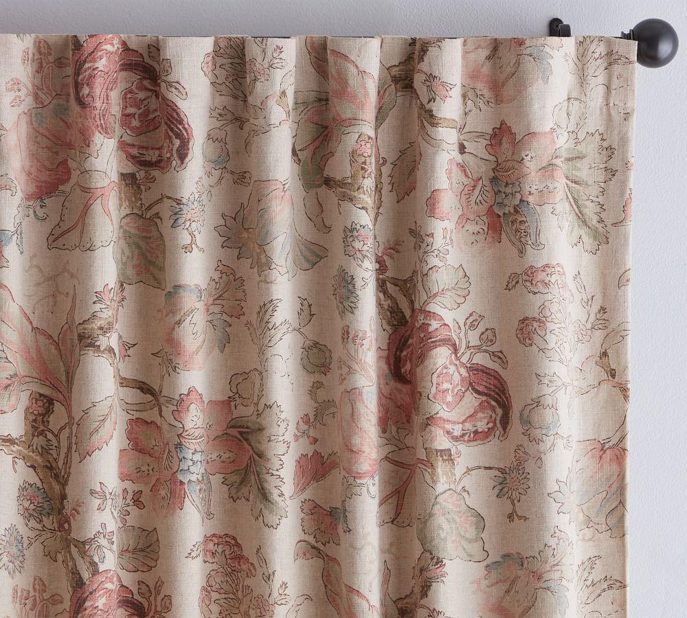 Grace Print Floral Curtain
