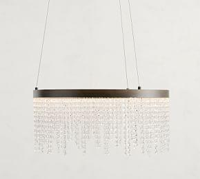 Xenia LED Crystal Ring Chandelier