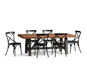 Saratoga Dining Table & X-Back Chair Set