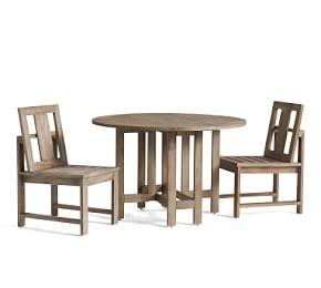 Indio Round Drop Leaf Dining Table & Chair Set