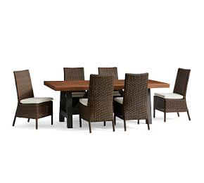 Saratoga Dining Table & Torrey Espresso Chair Set