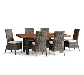 Saratoga Dining Table & Torrey Gray Chair Set