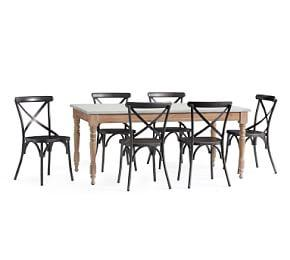 Calistoga Table & X-Back Bistro Chair Dining Set