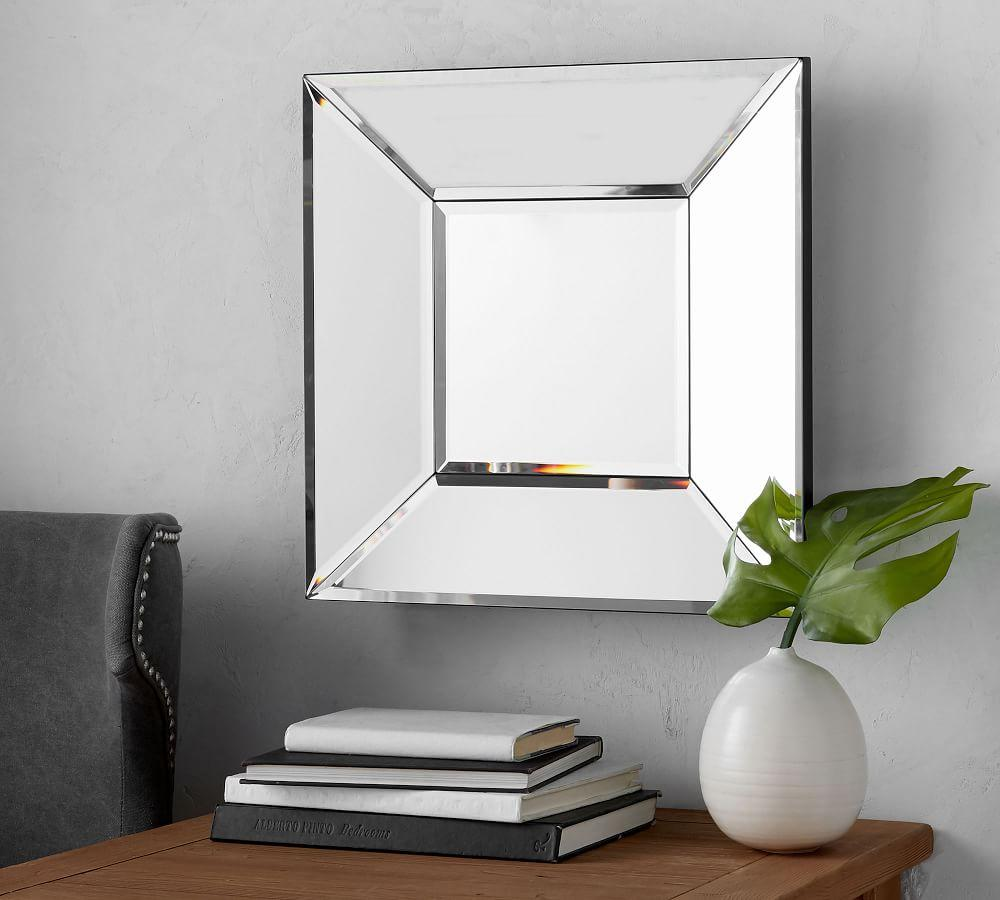 Beveled Glass Square Mirror