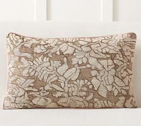Carmela Embroidered Lumbar Pillow Cover