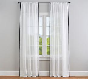 Linen Sheer Trim Curtain