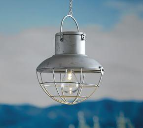 Galvanized Solar Cage Light