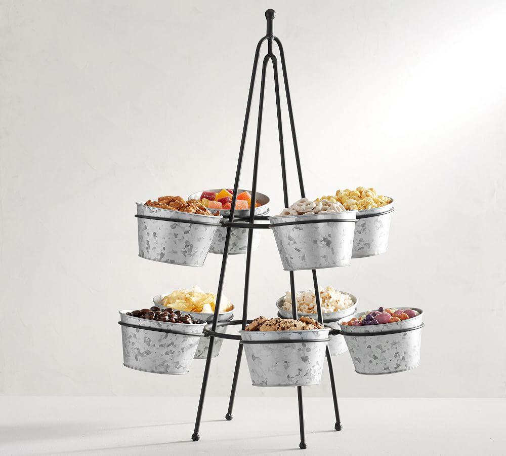 Galvanized Snack Bucket Stand