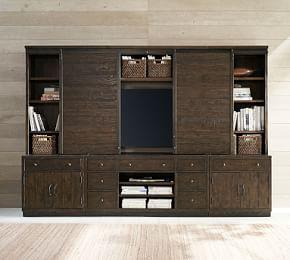 Kenwood Entertainment Center With Bridge & Sliding Doors