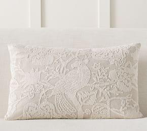 Lottie Embroidered Lumbar PIllow Cover