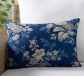 Outdoor Julene Floral Print Lumbar Pillow