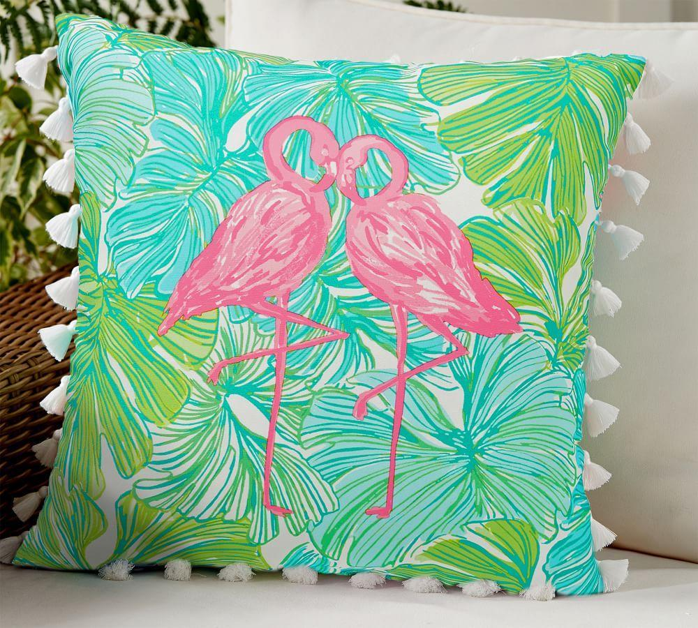 Outdoor Lilly Pulitzer Printed Pillow - Fronds Place