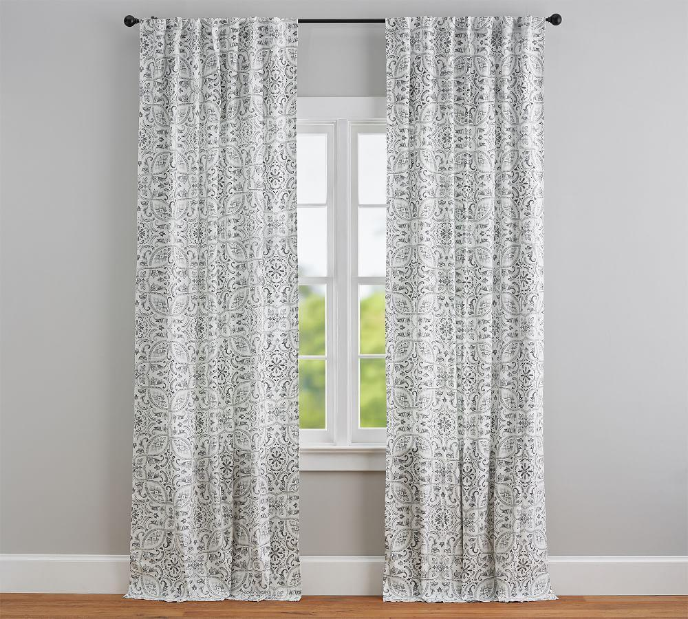 Selby Tile Curtain - Set of 2 - Gray