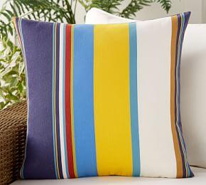 Outdoor Personalized Travis Stripe Pillow
