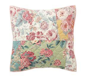 Shirley Floral Reversible Patchwork Sham