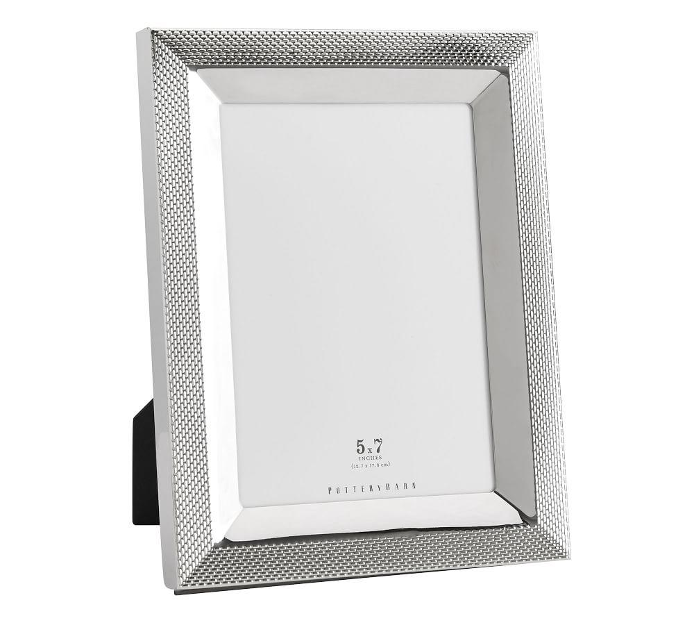 Silver Weave Picture Frame