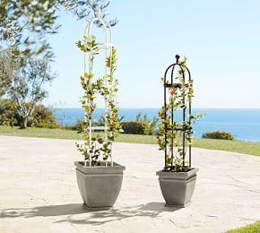 White Metal Trellis Collection