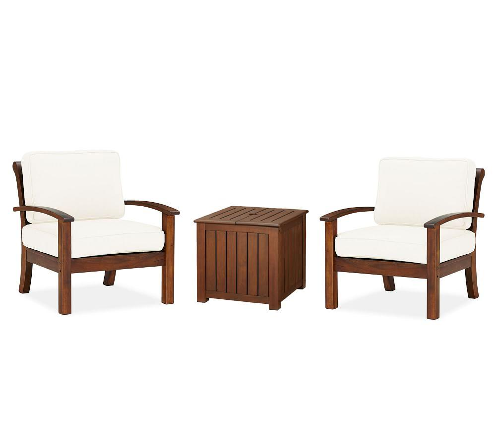 Chatham 3-Piece Chat Set with Umbrella Side Table