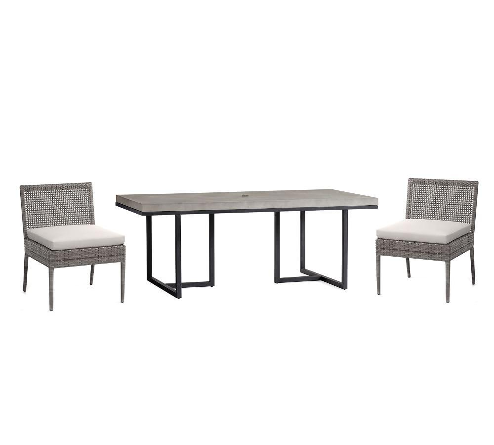 Sloan Concrete Table & Cammeray Chair Dining Set