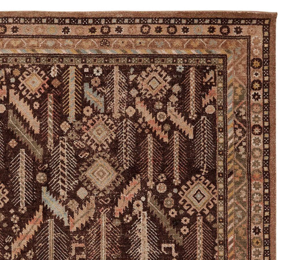 Vida Patterned Rug - Brown Multi