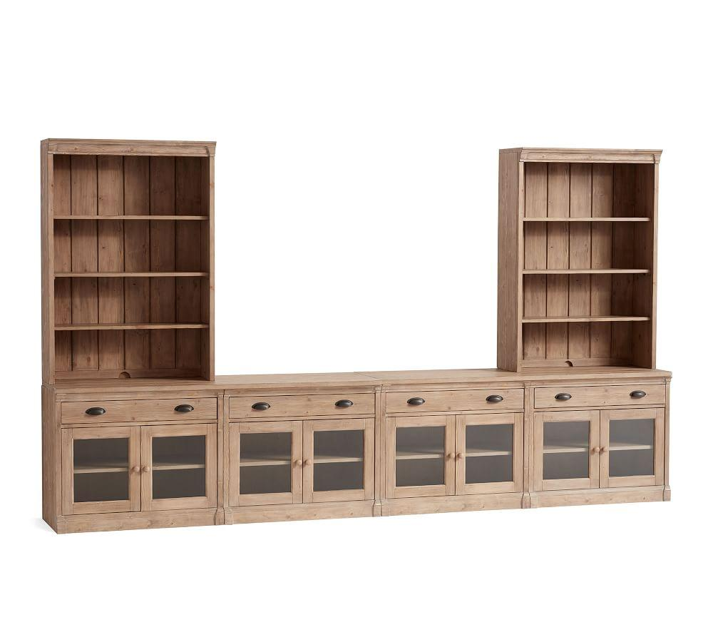 Lucca Large Entertainment Center with Glass Doors