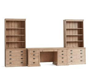 Lucca Large Office Suite With File Cabinets