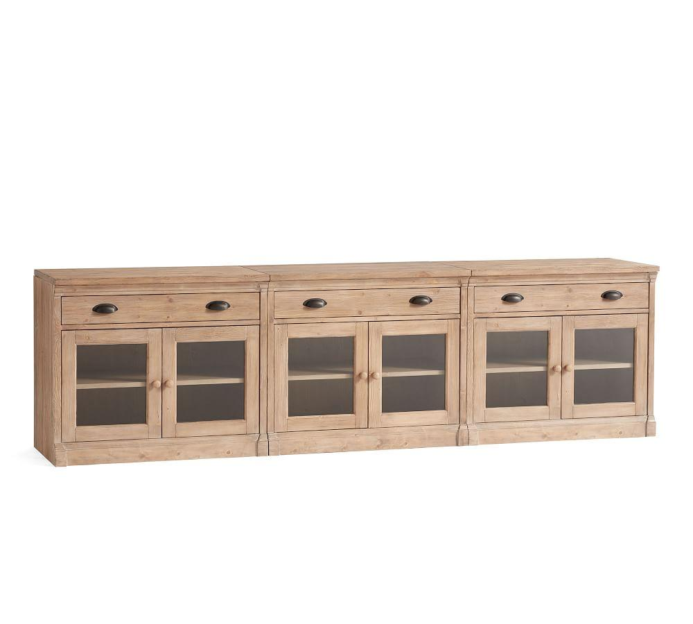 Lucca Large TV Stand with Glass Doors