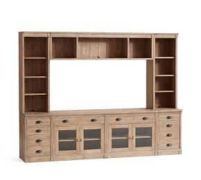 Lucca Medium Entertainment Center with Drawers & Bridge