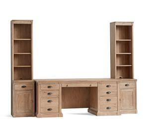 Lucca Small Office Suite with Cabinets