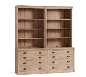 Lucca Double Bookcase